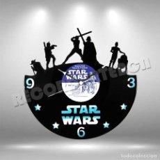 Figuras y Muñecos Star Wars: RELOJ DE DISCO LP DE STAR WARS. Lote 208700351