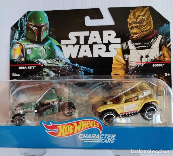 STAR WARS HOT WHEELS CHARACTER CARS BOBA FETT BOSSK (Juguetes - Figuras de Acción - Star Wars)