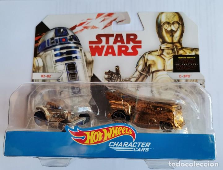 STAR WARS HOT WHEELS CHARACTER CARS C-3PO R2D2 (Juguetes - Figuras de Acción - Star Wars)