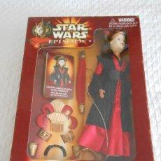 Figuras y Muñecos Star Wars: STAR WARS QUEEN AMIDALA REINA EPISODIO 1 GUERRA GALAXIAS FIGURA EN HASBRO CAJA. Lote 233578855