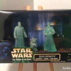 Figuras y Muñecos Star Wars: PACK STAR WARS - ESPÍRITUS JEDI - JEDI SPIRITS - ESCENA - POWER OF THE FORCE - KENNER VINTAGE. Lote 210347628