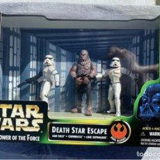 Figuras y Muñecos Star Wars: FIGURA STAR WARS - ESCENA DEATH STAR ESCAPE - HUÍDA DE LA ESTRELLA DE LA MUERTE - POWER OF THE FORCE. Lote 210347808