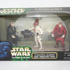 Figuras y Muñecos Star Wars: PACK FIGURAS STAR WARS - CANTINA ALIENS - POWER OF THE FORCE - KENNER HASBRO VINTAGE. Lote 210348253