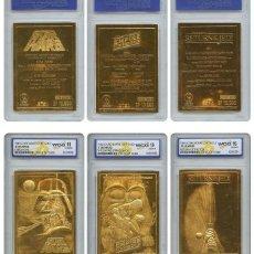 Figuras y Muñecos Star Wars: GRAN LOTE DE 3 LINGOTES CARTA DE ORO 23KT STAR WARS EDICION LIMITADAS Y NUMERADAS. Lote 211691989