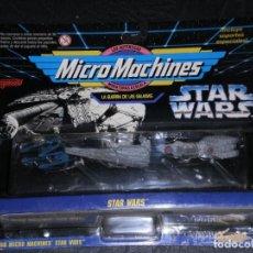 Figuras y Muñecos Star Wars: MICRO MACHINES- GUERRA DE LA GALAXIAS- NAVES STAR WARS COLECCION 1 – FAMOSA (GALOOB) - EN BLISTER. Lote 212085277