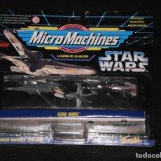 Figuras y Muñecos Star Wars: MICRO MACHINES- GUERRA DE LA GALAXIAS- NAVES STAR WARS COLECCION 9 – FAMOSA (GALOOB) - EN BLISTER. Lote 212086012