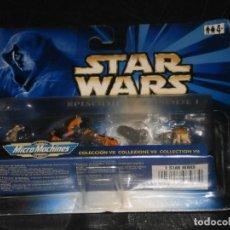 Figuras y Muñecos Star Wars: MICRO MACHINES - STAR WARS - EPISODIO I –COLECCIÓN 7 DE GALOOB – HASBRO - EN BLISTER. Lote 212087435