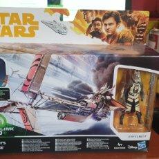 Figurines et Jouets Star Wars: STAR WARS ENFYS NESTS SWOOP BIKE FORCE LINK 2.0 NUEVO EN SU CAJA DE HASBRO. Lote 213323278