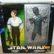 """Figuras y Muñecos Star Wars: KENNER STAR WARS ACTION COLLECTION HAN SOLO + CARBONITE BLOCK 12"""" AÑO 1998. Lote 213634988"""