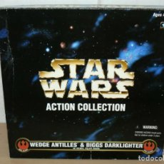 "Figuras y Muñecos Star Wars: KENNER STAR WARS ACTION COLLECTION WEDGE ANTILLES & BIGGS DARKLIGHTER 12"" 1998. Lote 213637188"