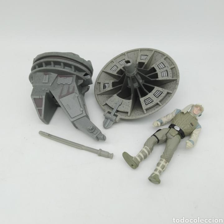 Figuras y Muñecos Star Wars: Hoth Rebel Trooper con Blaster cañón láser de Star Wars LFL Kenner año 1997 The Power of the Force - Foto 2 - 213744895