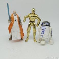 Figuras y Muñecos Star Wars: LOTE DE FIGURAS ARTICULADAS STAR WARS - OBI-WAN KENOBI, R2-D2 Y C-3PO. Lote 213759455