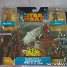 Figuras y Muñecos Star Wars: EXTRAORDINARIO JUEGO DE STAR WARS, DUELO JEDI, CON 12 VEHICULOS Y FIGURAS DE LA SERIE. NUEVO.. Lote 213968512