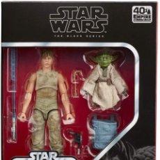 Figuras y Muñecos Star Wars: LUKE AND YODA DELUXE FIGURA 15/8 CM STAR WARS BLACK SERIES 40TH ANNIVERSARY. Lote 215237231