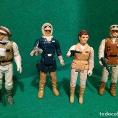 Figuras y Muñecos Star Wars: LUKE LEIA HAN SOLO REBEL SODIER SOLDADO HOTH KENNER VINTAGE ARMAS REPRO. Lote 215494142