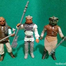 Figuras y Muñecos Star Wars: WEEQUAY NIKTO KLAATU JABBA KENNER VINTAGE ARMAS REPRO. Lote 215494173