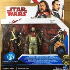 Figuras y Muñecos Star Wars: STAR WARS PACK CHIRRUT ÍMWE & BAZE MALBUS. Lote 215826317
