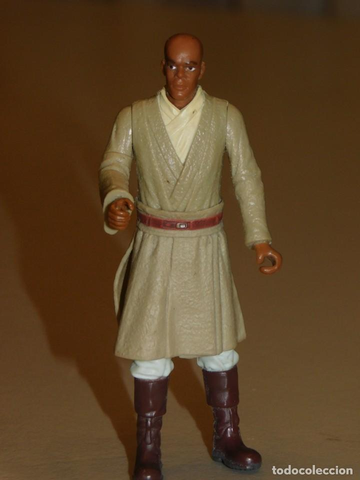 STAR WARS *MACE WINDU* HASBRO LFL 1998. 10 CM. 3 FOTOS DESCRIPTIVAS. (Juguetes - Figuras de Acción - Star Wars)