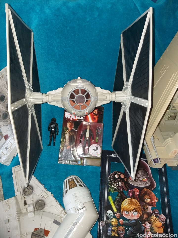 Figuras y Muñecos Star Wars: Star Wars lote naves/vehículos/figuras/libro Kenner y Hasbro - Foto 2 - 217566830