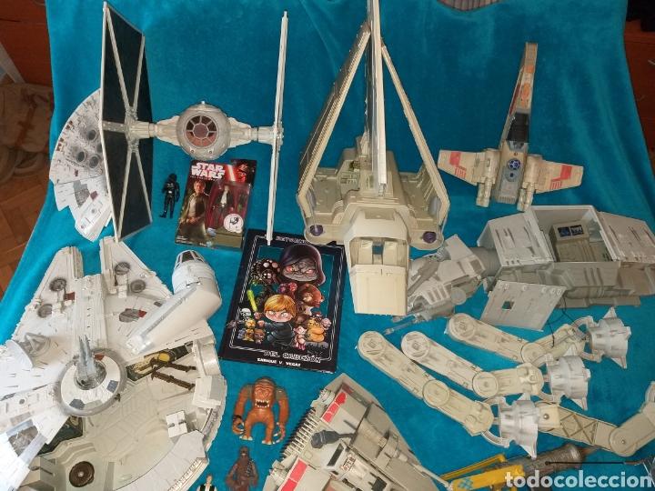 STAR WARS LOTE NAVES/VEHÍCULOS/FIGURAS/LIBRO KENNER Y HASBRO (Juguetes - Figuras de Acción - Star Wars)