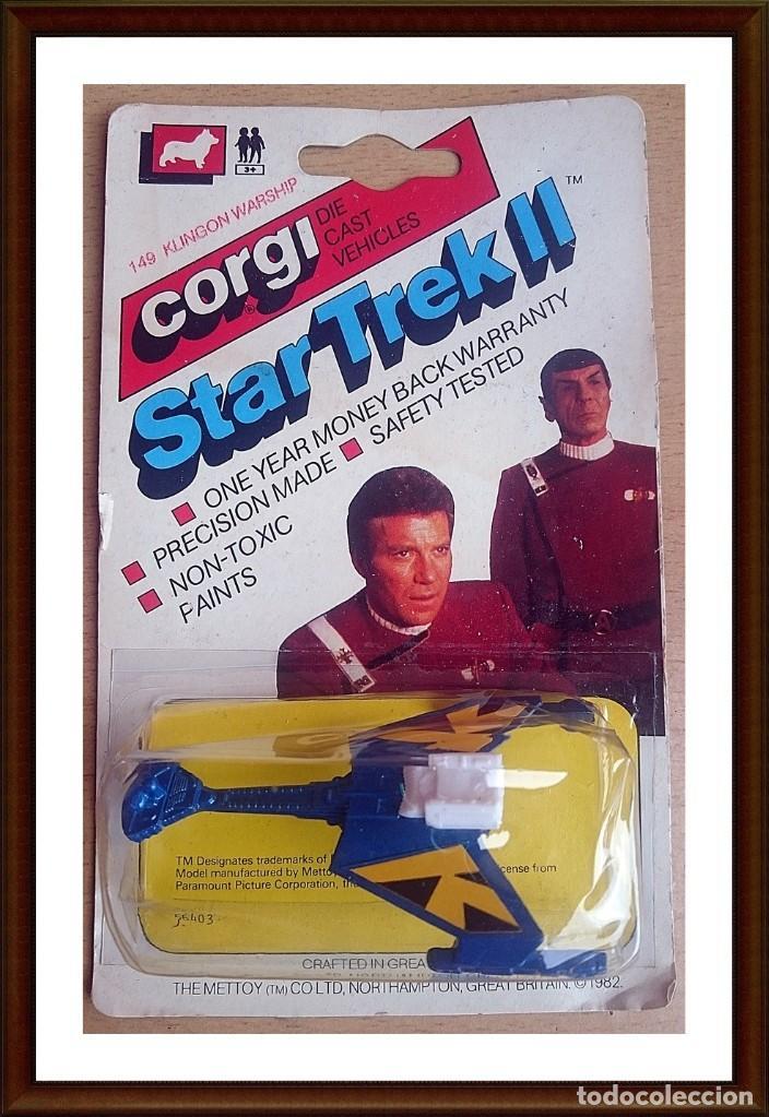 1982 CORGI JUNIOR 149 STAR TREK II KLINGON WARSHIP (Juguetes - Figuras de Acción - Star Wars)