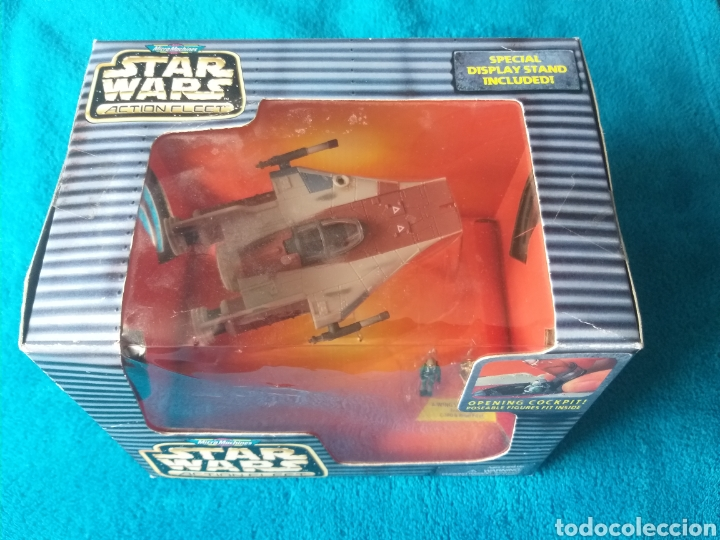 STAR WARS NAVE/FIGURAS A-WING ACTION FLEET MICROMACHINES (Juguetes - Figuras de Acción - Star Wars)