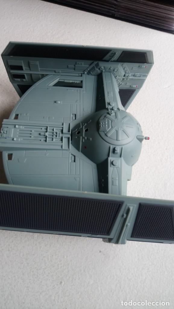 Figuras y Muñecos Star Wars: Maqueta Nave tie caza imperial darth vader star wars tamaño grande hasbro 2001 - Foto 7 - 218102296