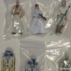 Figuras y Muñecos Star Wars: STAR WARS TRAINING ON THE FALCON LOTE DE 6 FIGURAS EN PERFECTO ESTADO C-10 Y NUNCA JUGADAS.. Lote 218225746