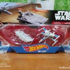 Figuras y Muñecos Star Wars: STAR WARS TRANSPORTER VS. X- WING FIGHTER. Lote 219297472