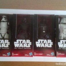 Figuras y Muñecos Star Wars: LOTE 4 FIGURAS STAR WARS THE FORCE AWAKENS HASBRO KYLO REN , DARTH VADER ,SNOWTROOPER, STORMTROOPER. Lote 219902516