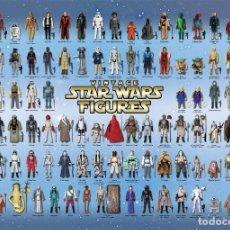 Figuras e Bonecos Star Wars: KENNER 1977 POSTER IDENTIFICACION FIGURAS KENNER A3. Lote 220127581
