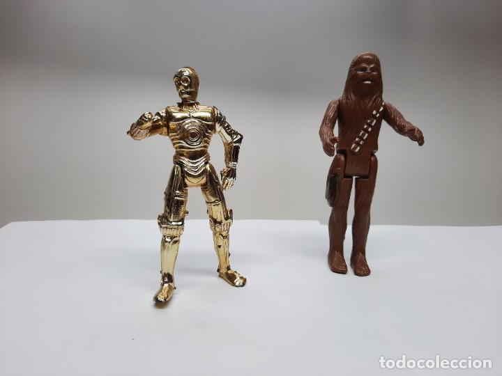 FIGURAS STAR WARS CHEWBACCA 1977 SPAIN Y C-3PO (Juguetes - Figuras de Acción - Star Wars)