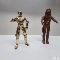 Figuras y Muñecos Star Wars: FIGURAS STAR WARS CHEWBACCA 1977 SPAIN Y C-3PO. Lote 220371926