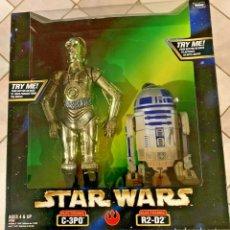 Figuras y Muñecos Star Wars: FIGURAS STAR WARS - C3PO Y R2D2 - POWER OF THE FORCE - KENNER HASBRO VINTAGE. Lote 220556690