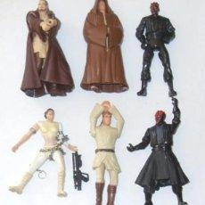 """Figure e Bambolotti Star Wars: STAR WARS LOTE DE FIGURAS SUELTAS 3,75"""" PRECUELAS ANAKIN, OBI-WAN, PADME, DARTH MAUL.... Lote 217204066"""