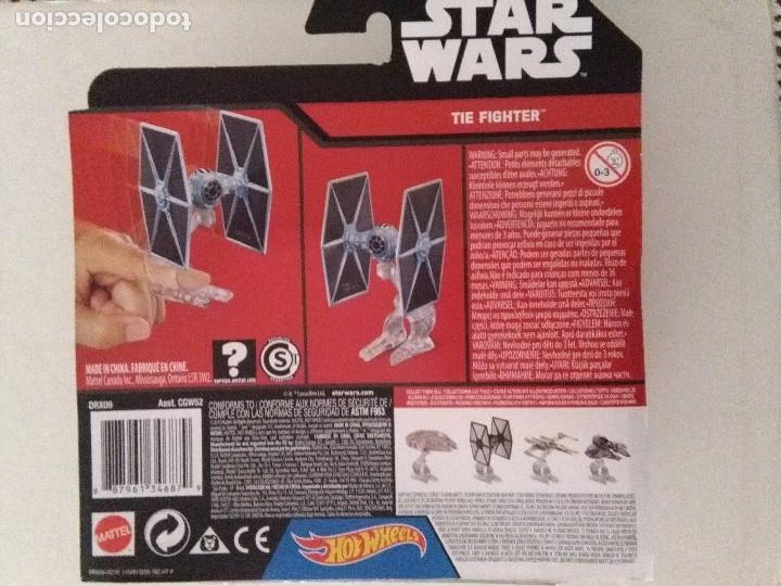 Figuras y Muñecos Star Wars: FIGURA NAVE MAQUETA STAR WARS THE FIGHTER 2015 HOT WHEELS BLISTER. - Foto 2 - 222037005