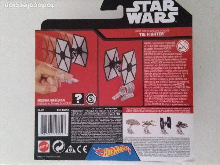 Figuras y Muñecos Star Wars: FIGURA NAVE MAQUETA STAR WARS THE FIGHTER SPECIAL FORCES 2015 HOT WHEELS BLISTER. - Foto 2 - 222039085