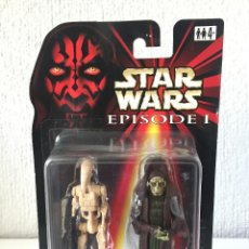 Figuras y Muñecos Star Wars: RUNE HAAKO WITH BONUS BATTLE DROID - STAR WARS - EPISODE I - 1999 - ¡NUEVA!. Lote 222060505