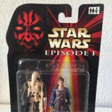 Figuras y Muñecos Star Wars: PADME NABERRIE WITH BONUS BATTLE DROID - STAR WARS - EPISODE I - 1999 - ¡NUEVA!. Lote 222061217