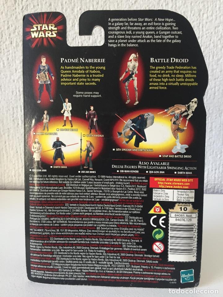 Figuras y Muñecos Star Wars: PADME NABERRIE WITH BONUS BATTLE DROID - STAR WARS - EPISODE I - 1999 - ¡NUEVA! - Foto 2 - 222061217