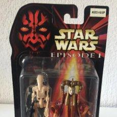 Figuras y Muñecos Star Wars: QUEEN AMIDALA WITH BONUS BATTLE DROID - STAR WARS - EPISODE I - 1999 - ¡NUEVA!. Lote 222061743