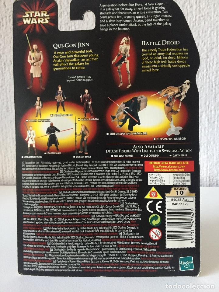 Figuras y Muñecos Star Wars: QUI-GON JINN (JEDI DUEL) WITH BONUS BATTLE DROID - STAR WARS - EPISODE I - 1999 - ¡NUEVA! - Foto 2 - 222062360