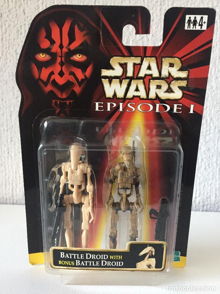BATTLE DROID (DIRTY) WITH BONUS BATTLE DROID - STAR WARS - EPISODE I - 1999 - ¡NUEVA! (Juguetes - Figuras de Acción - Star Wars)