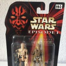 Figuras y Muñecos Star Wars: BATTLE DROID (DIRTY) WITH BONUS BATTLE DROID - STAR WARS - EPISODE I - 1999 - ¡NUEVA!. Lote 222063843