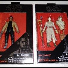 Figuras y Muñecos Star Wars: LOTE DE 2 FIGURAS STAR WARS # FINN Y REY (JAKKU ) # THE BLACK SERIES - 10 CM - NUEVOS, HASBRO.. Lote 222064340