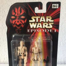 Figuras y Muñecos Star Wars: BATTLE DROID (CLEAN) WITH BONUS BATTLE DROID - STAR WARS - EPISODE I - 1999 - ¡NUEVA!. Lote 222064746