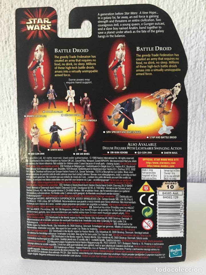 Figuras y Muñecos Star Wars: BATTLE DROID (CLEAN) WITH BONUS BATTLE DROID - STAR WARS - EPISODE I - 1999 - ¡NUEVA! - Foto 2 - 222064746