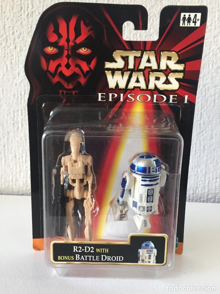 R2-D2 WITH BONUS BATTLE DROID - STAR WARS - EPISODE I - 1999 - ¡NUEVA! (Juguetes - Figuras de Acción - Star Wars)