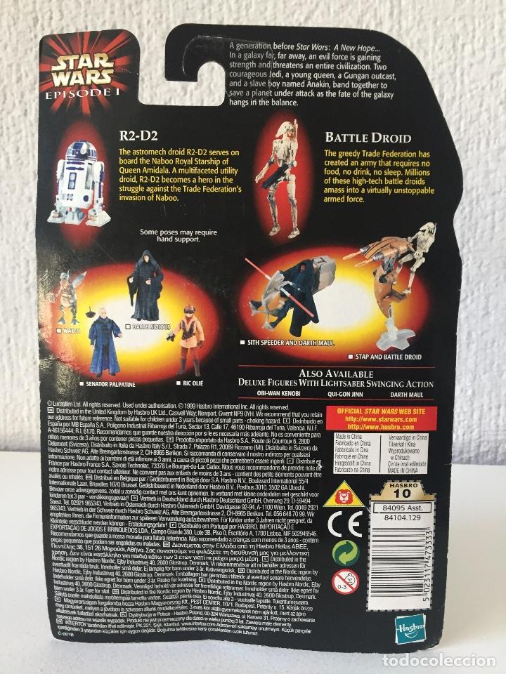 Figuras y Muñecos Star Wars: R2-D2 WITH BONUS BATTLE DROID - STAR WARS - EPISODE I - 1999 - ¡NUEVA! - Foto 2 - 222066406