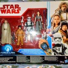 Figuras y Muñecos Star Wars: SET STAR WARS-LOS ULTIMOS JEDI, INCLUYE 4 FIGURAS - HASBRO - 2017, EN CAJA, SIN ABRIR. Lote 222185958